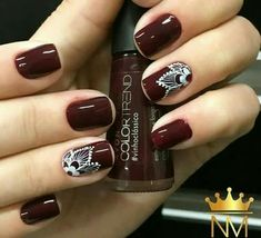 Uñas Red Nails, Hair And Nails, Cute Nails, Pretty Nails, Henna Nails, Gothic Nails, Mandala Nails, Nails Only, Nail Art Videos