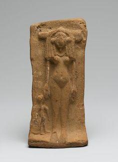 Woman and Child on a Bed, sawarna, Egypt, XVIII Dynasty, ca. 1539-1295 B.C.E. Terracotta, 2 1/4 x 2 3/4 x 6 7/8 in. (5.7 x 7 x 17.5 cm). Brooklyn Museum.