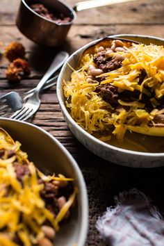 Cincinnati Chili Stuffed Spaghetti Squash - Fantastic depth of flavor in this chili, and it was easier than other versions I've tried. It was a pretty straightforward process and then it just simmers for a really long time. Perfect with the spaghetti squash to get some more veggies in and give it some texture instead of pasta.