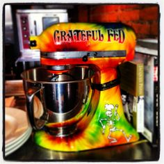 Grateful dead Kitchenaid. From The Black Pig in Cleveland......strange things you can buy!