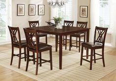 Lacks | Cadiz 7-Pc Counter Height Dining Set