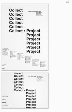 collection / swiss typography