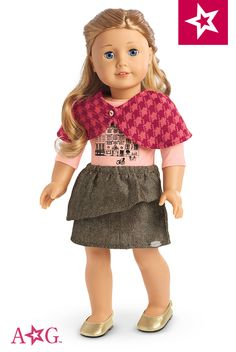 Dolls will be ready for weekend jaunts in the city in this smart and stylish set. $28