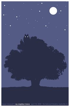 """My Neighbour Totoro"" by Sam Smith.  http://minimalmovieposters.tumblr.com/tagged/my-neighbour-totoro"