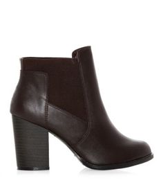 f5bce3cb2735 Burgundy Leather-Look Chelsea Cut Out Block Heel Boots. Bliss   Benefits · Style  lab