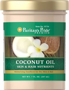 Puritan's Pride Coconut Oil for Skin and Hair-7 fl oz Oil *** Check out the image by visiting the link.