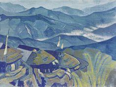 Н.К.Рерих. Stupa. Деревня # 63. 1924