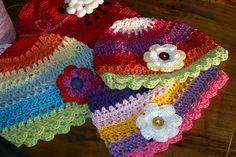 cappellini uncinetto cotone by fattoconilcuore, via Flickr