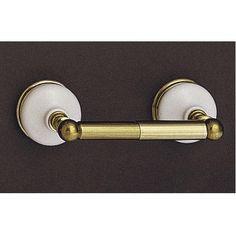 Also pretty Strom Plumbing Porcelain & Brass Toilet Paper Holder