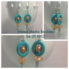 Soft Seas Ahead.... Only $14.99... While my Etsy shop is in vacation mode you can still purchase my baubles.  Message me through Facebook at Mixed Media Baubles for details!