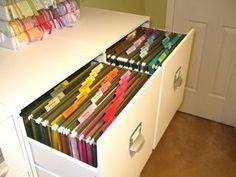 scrapbook paper organization