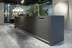 Kitchen with Glass Top and Integrated Handles - Brera from Elam
