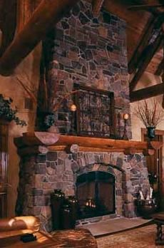 Floor to Ceiling Fireplace Designs | Undeniably, the floor to ceiling stone fireplace design pictured at ...
