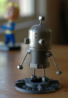 """Josef is the hero of the independent video game """"Machinarium"""" by Amanita Design. Here I recreate him using cheap odds and ends from my local hardware store."""