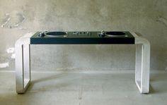 Concrete DJ booth