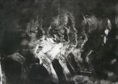 """Hayley Blanck; Engraving, Printmaking """"Meanwhile..."""""""