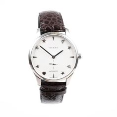 Gucci Watches - Shop designer fashion at Tradesy and save 70% off or more on fashion accessories. Gucci Watches For Men, Gucci Accessories, Vintage Gucci, Stainless Steel Watch, Omega Watch, Luxury Fashion, Quartz, Brown, Markers