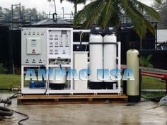 Ampac USA Reverse Osmosis System in Oil Fields treating Frac water that will be released in the environment.