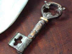 Vintage Skeleton Key CORKSCREW and Bottle Opener