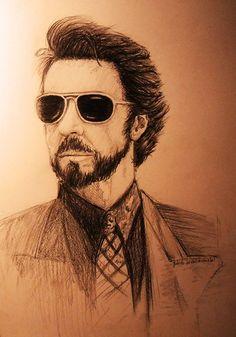 Carlito's Way - A pencil drawing of Al Pacino as Carlito Brigante #GangsterMovie #GangsterFlick