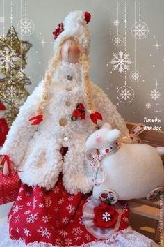 Куклы Тильды ручной работы. Ярмарка Мастеров - ручная работа Новогодний ангел Энн. Handmade.
