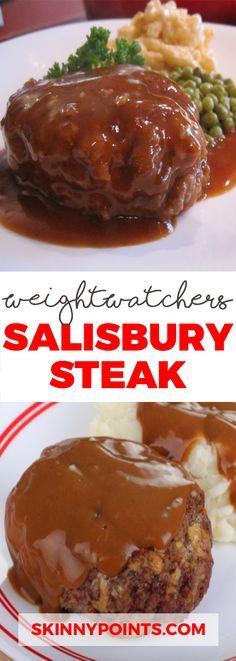 Best Salisbury Steak Ever come with weight watchers SmartPoints