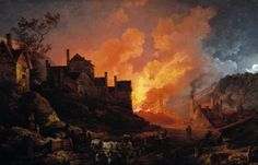Philip James de Loutherbourg - Coalbrookdale by Night  It shows the beauty of the sky