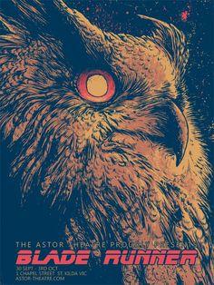 Another Gorgeous Blade Runner Poster Do you like our owl? - Rachael Art by Godmachine via: /Film Blade Runner 1, Blade Runner Poster, Ridley Scott Blade Runner, Tv Movie, Fanart, Alternative Movie Posters, Movie Poster Art, Graphic Art, Graphic Design