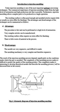 Introduction to Injection moulding