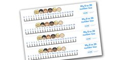 0-20 Number Line (Ourselves) - Counting, Numberline, Number