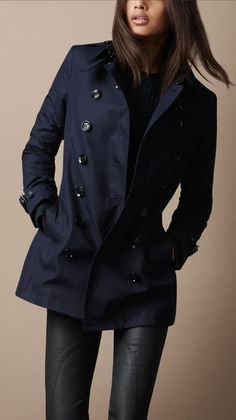 Short Cotton Trench Coat - Lyst