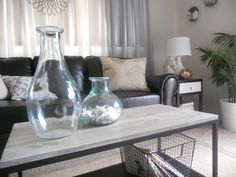 SL Designs: DIY: Box Frame Coffee Table IKEA coffee table hack