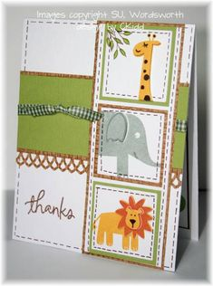 Wild About You Thanks by ckidd - Cards and Paper Crafts at Splitcoaststampers