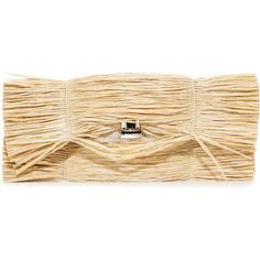 MM6 Straw Clutch (22.470 RUB) ❤ liked on Polyvore featuring bags, handbags, clutches, natural, straw clutches, fringe handbags, beige clutches, basket weave purse and beige purse