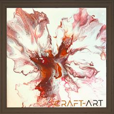 Red Flowers, Abstract, Artwork, Painting, Color, Summary, Work Of Art, Auguste Rodin Artwork, Painting Art