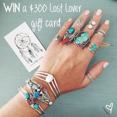 Enter this competition to WIN a $300 Lost Lover gift card!