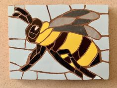 The #bees are out and about  #mosaic #mosaics #bee #spring #animals