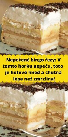 Czech Recipes, Ethnic Recipes, Sweet Desserts, Vanilla Cake, Tiramisu, Ale, Cheesecake, Food And Drink, Yummy Food