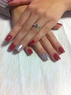 Redd & silver nails