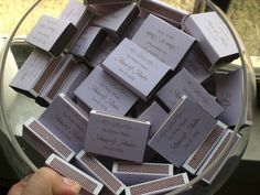 DIY Wedding Challenge: Personalized Matches - Project Wedding
