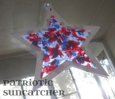 Memorial Day Crafts and Activities for Kids red white and blue patriotic star suncatcher memorial day and july crafts for kids Toddler Crafts, Crafts For Kids, Arts And Crafts, Children Crafts, Toddler Art, Craft Activities, Preschool Crafts, Nanny Activities, Daycare Crafts