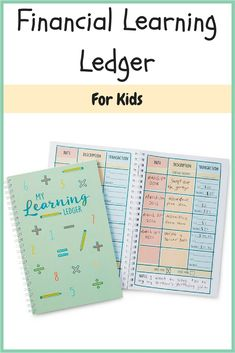 This financial learning ledger for kids is genius! I want to get this for Addison and Felicity for when they get older! My husband and I think it is very important to start teaching them young about money and responsibility! Too many kids are entitled and don't understand hard work and how important it is to understand how to work, earn, and spend your money wisely.   #learning #ledgerforkids #affiliate