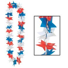 Patriotic Party Star Party Lei (12ct)