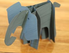 Cute Cardboard Elephant- includes a free printable template!