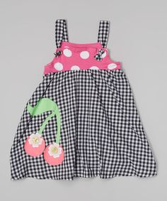 Take a look at this Black Gingham Frolic Dress - Infant, Toddler & Girls on zulily today!