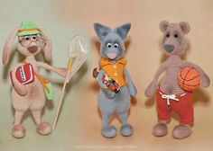 062 Hase Bär und Katze mit Zubehör  Crochet von LittleOwlsHut
