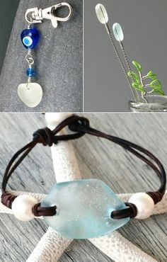 I love the bracelet on this page!  I can make that ... handmade seaglass jewelry