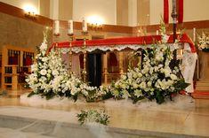 Altar Flowers, Church Flowers, Funeral Flowers, Church Altar Decorations, Flower Decorations, Large Flower Arrangements, Funeral Arrangements, Indoor Wedding, Google