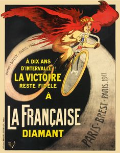 Poster cycling french bicycle vintage poster