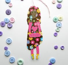 Love Paper Doll  Jointed Paper doll Paper Doll by JuliaPeculiar